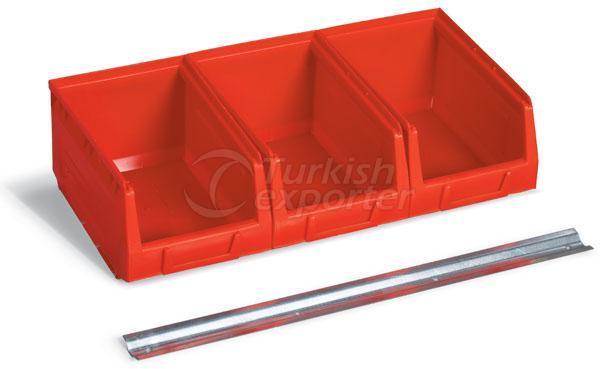 Metal Railed Storage Bins