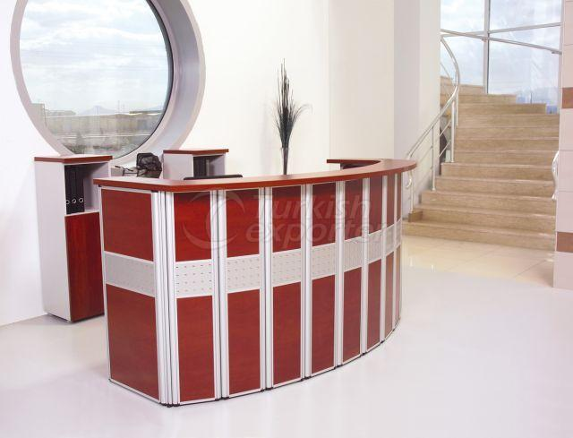 Office Furniture Resepsiyon Oval Panel