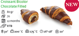 Croissant Bicolor Chocolate Filled