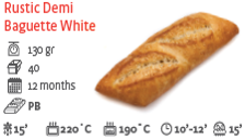 Rustic Demi Baguette White Bread