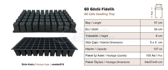 60 cellules d'ensemencement