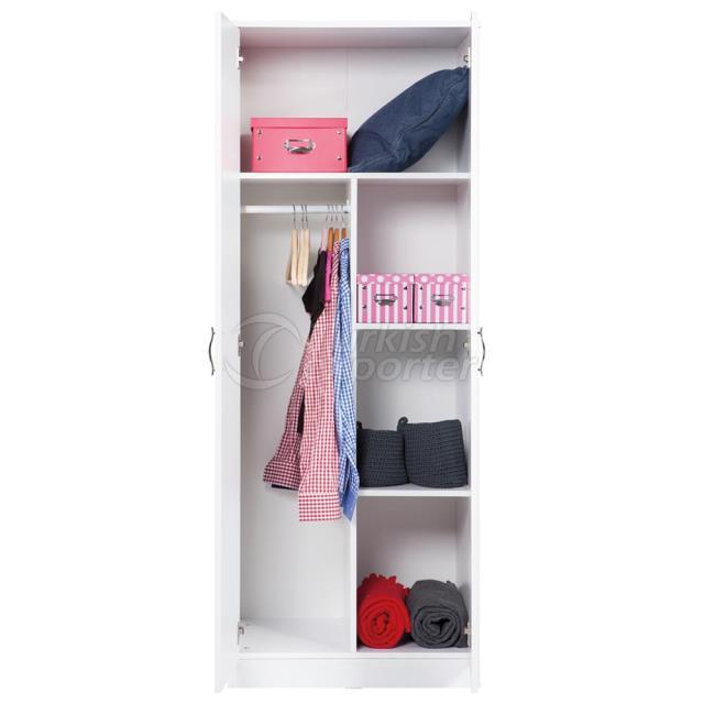 Gabinete de 2 portas com gaveta - Closet