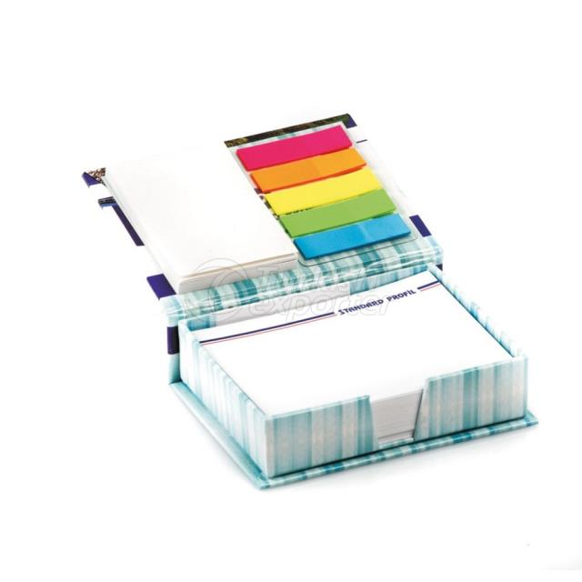 Accessoried Coated Covered Note Holder