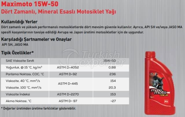 Maximoto 15W-50