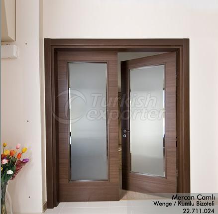 Wooden Door Mercan Glazed