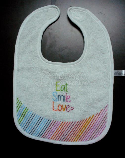 Baby bib with velcro