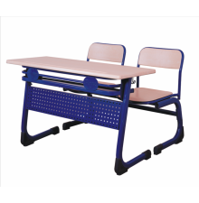 Double School Desk Set ( disassembly ) Werzalit Wood+High Quality+suitable price