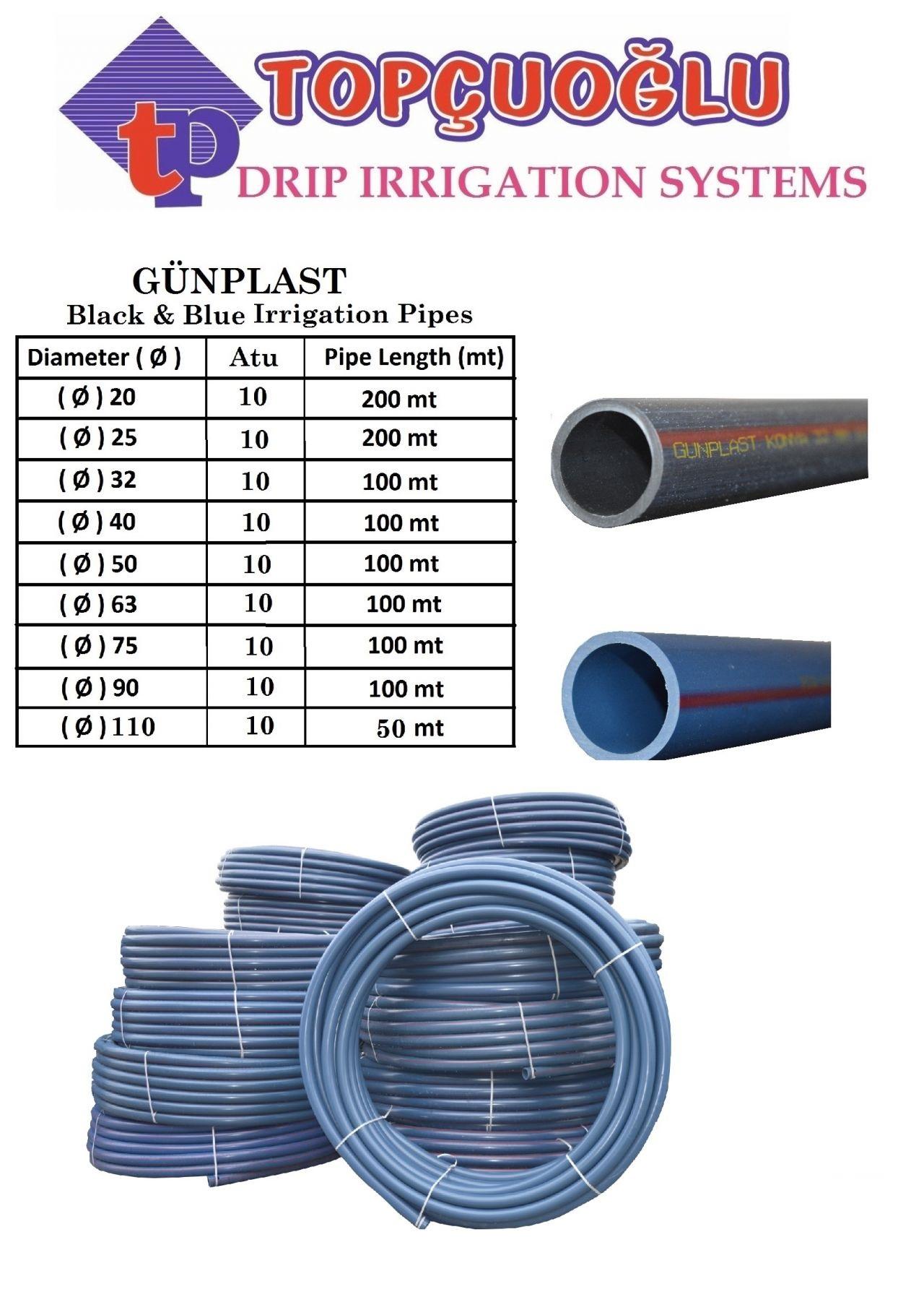 Black-Blue Irrigaton Pipe