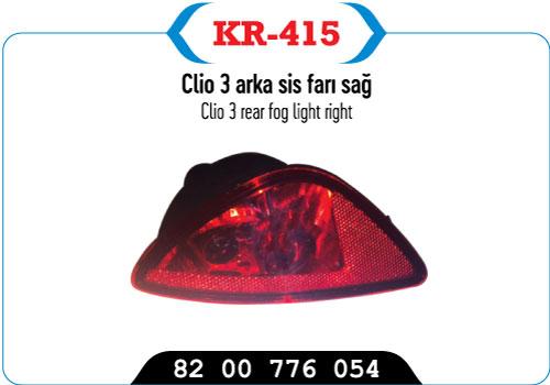 KR-415  CLIO 3 ARKA SIS FARI