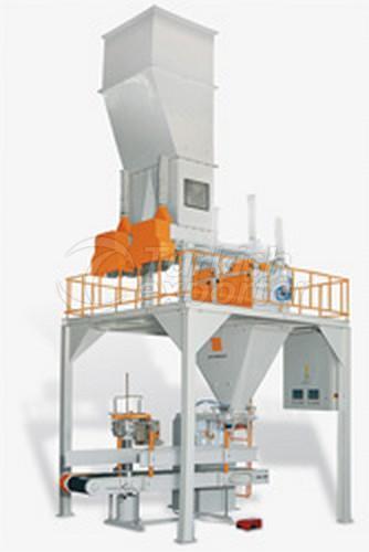 Ensachage de farine à une station avec double pesée