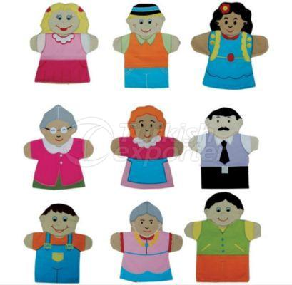 Set de marionnettes humaines