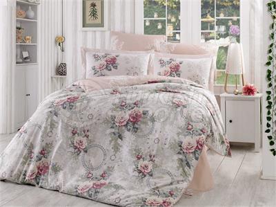 Clementina Dried Rose - Poplin Single Bed Linen Set (98017404151)
