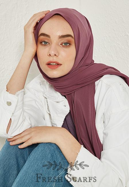 crinkle medina silk violet
