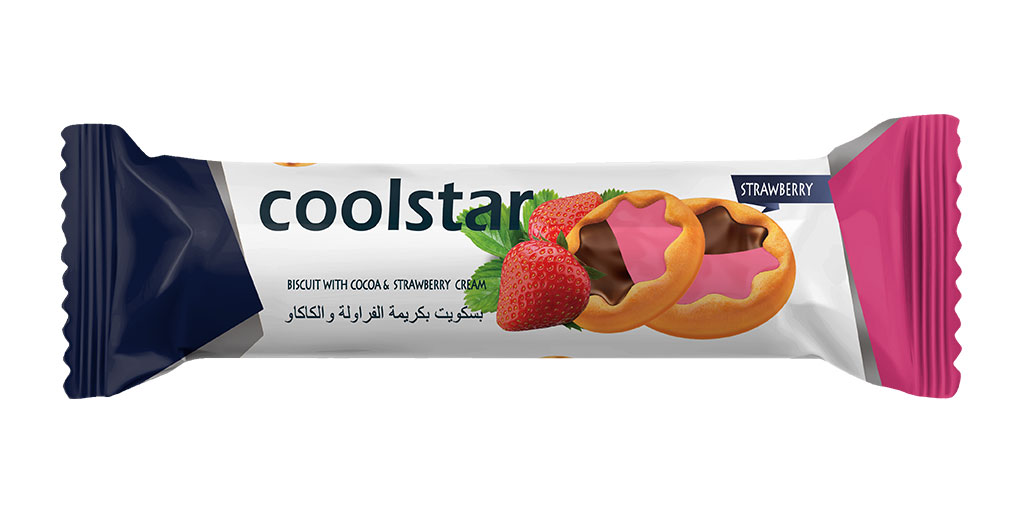 Star Shape Cookies with Strawberry
