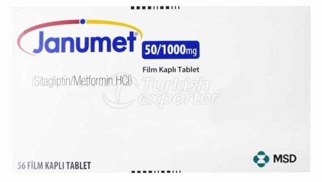 JANUMET 50/1000 MG 56 TB