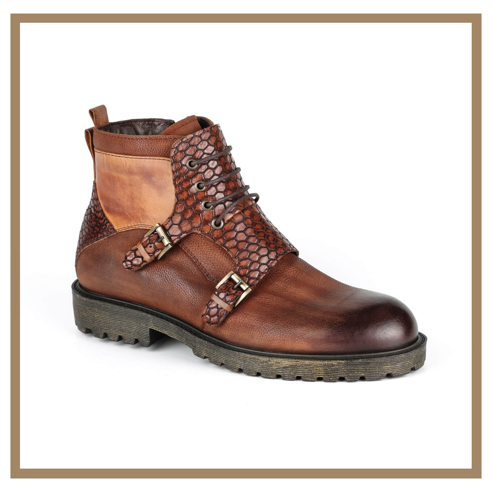 Leather Man Boots 001
