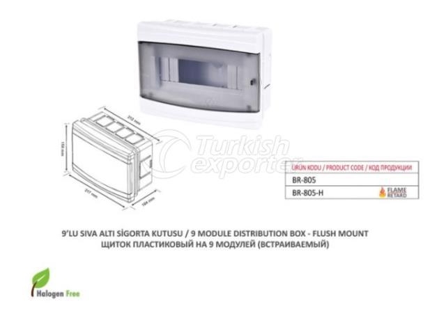 9 Module Distribution Box-Surface Mount
