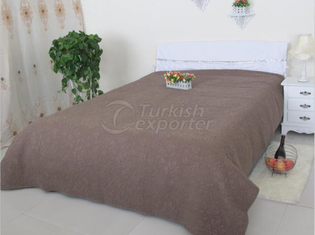 Embroidery solid quilt&bedspread