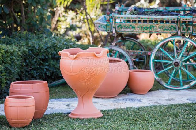 Terracotta Pots Footed  Chalice