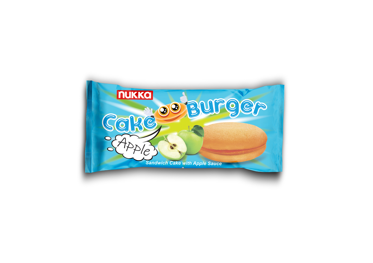 CAKE BURGER SANDWICH CAKE APPLE SAUCE
