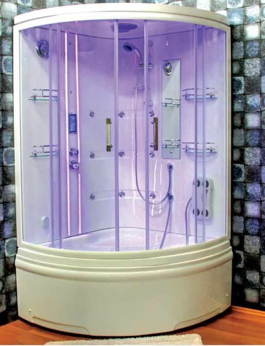 Compact Shower Enclosure Oval