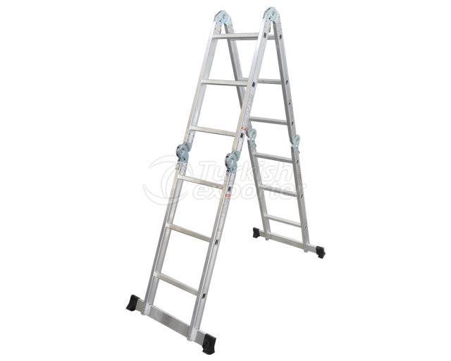 Çift Çıkışlı Alüminyum Akrobat Merdiven