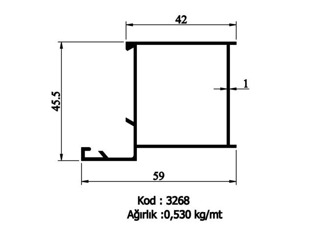 Door - Window Profiles 3268