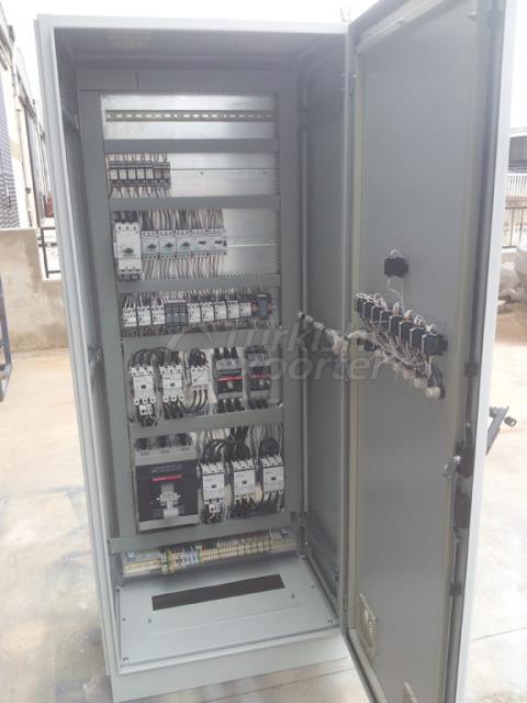 Painel de controle de energia elétrica