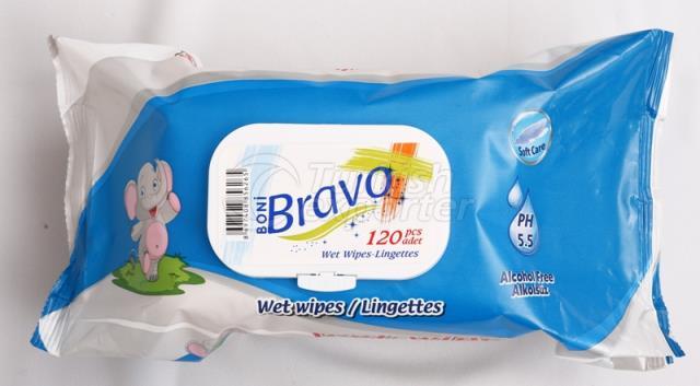 Bravo 120 Pcs Wet Wipes