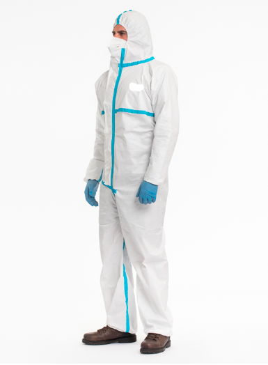 Hooded Coverall With Welded Seam Type 3B/4B - White - Laminated - 55gr