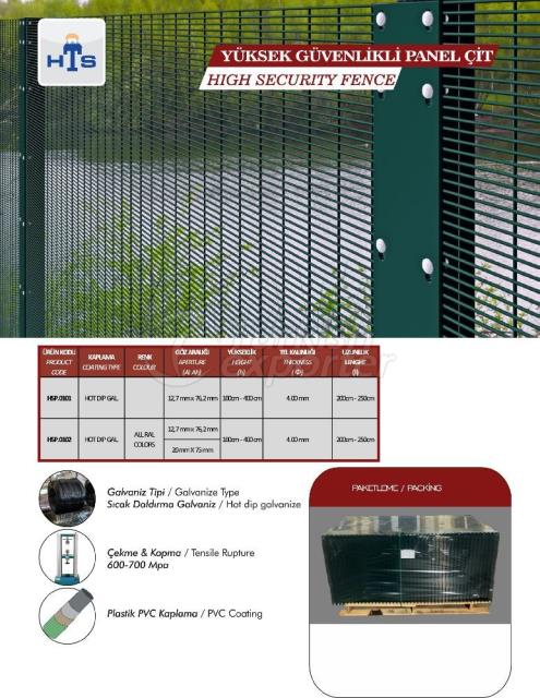 Clôture de panneau haute sécurité