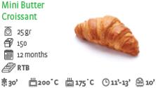 Mini Croissant Butter