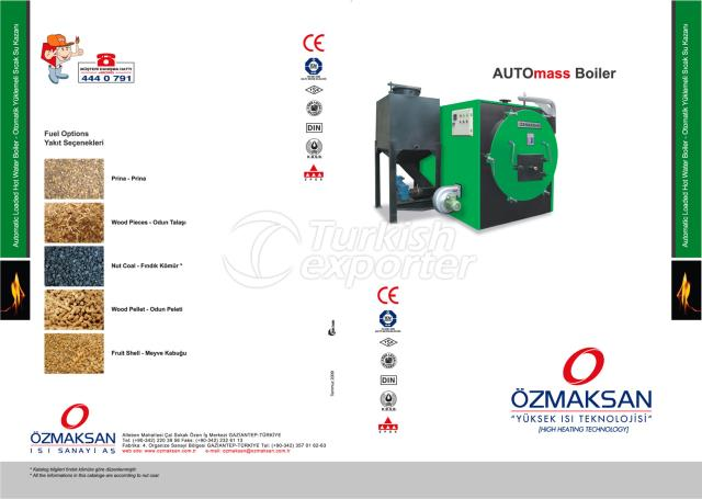 HOT WATER BOILER WITH AUTOMATIC LOADING