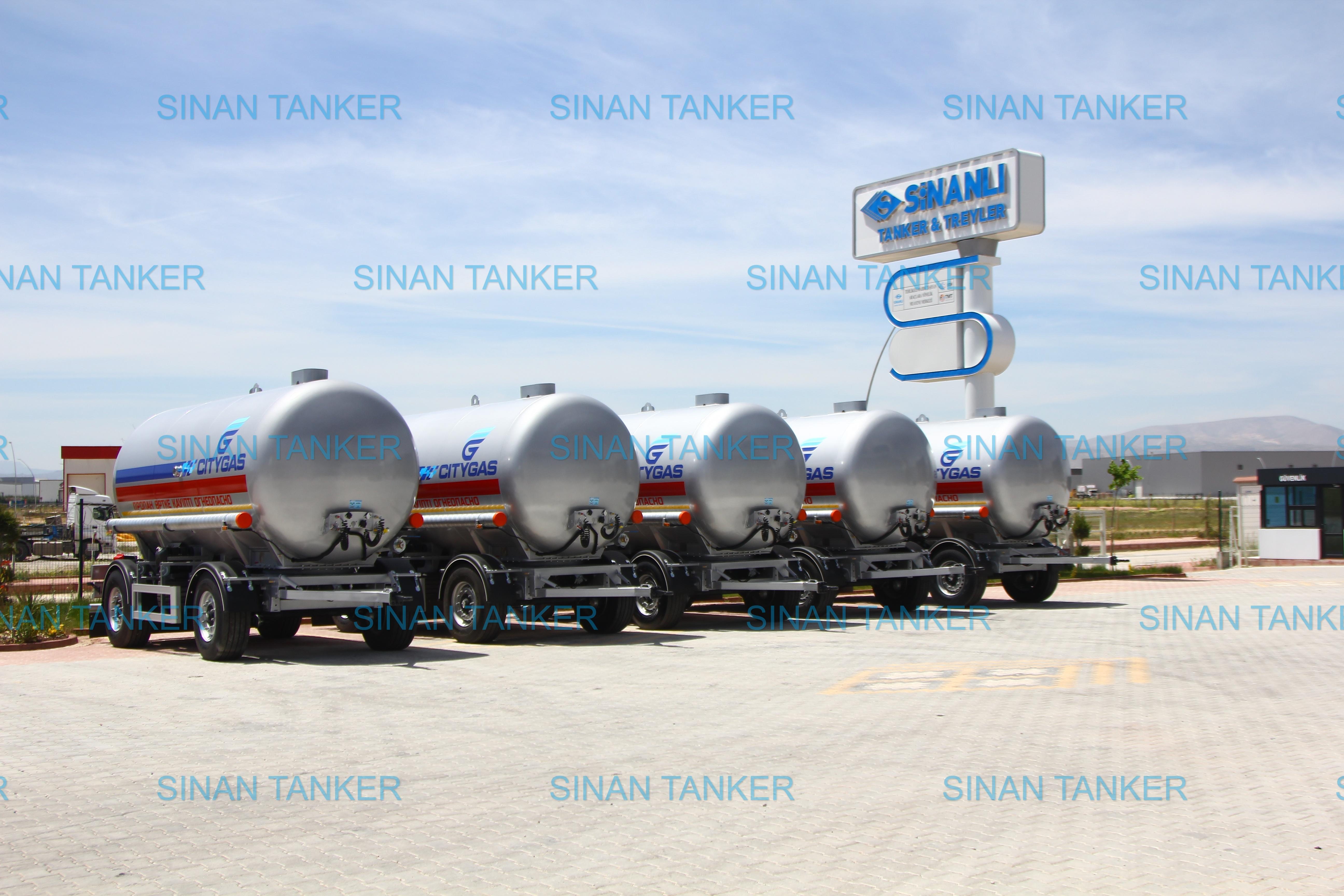 LPG tanker trailer
