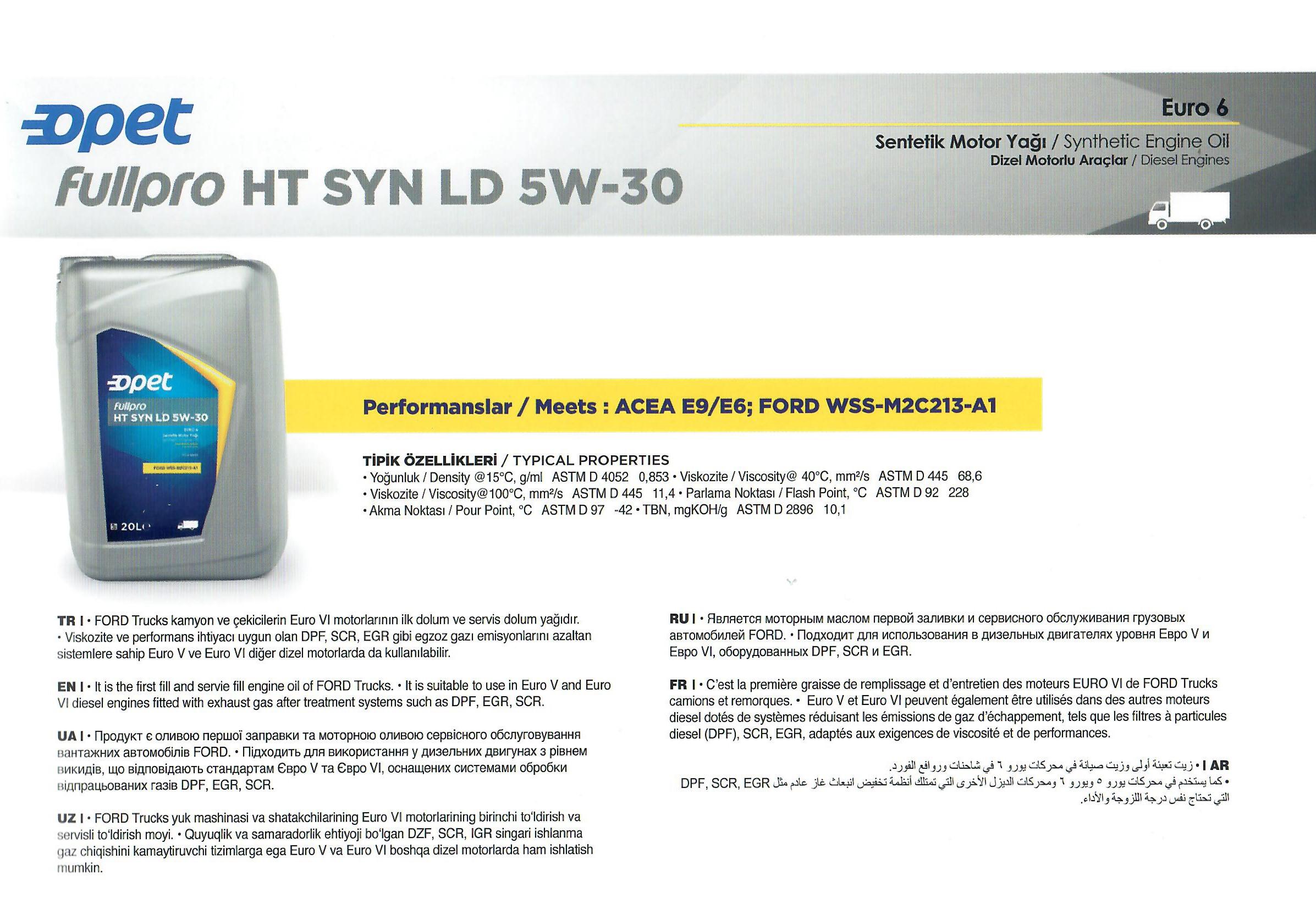 FULLPRO HT SYN LD 5W-30