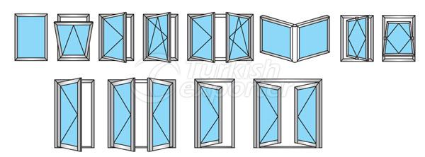 Puertas de aluminio 59T Windows