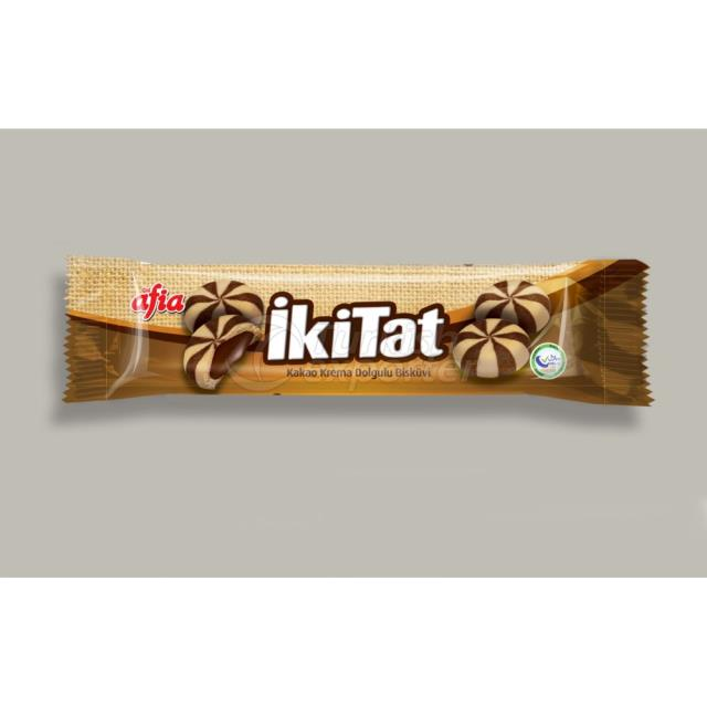 1107-IKITAT CACAO CREAM BISCUIT 80 GR.(