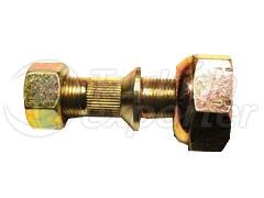 WHEEL BOLT AND NUT FRONT-RIGHT