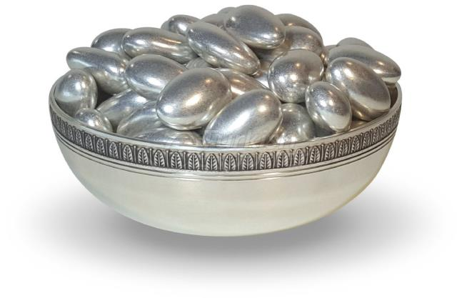 Chocolate Almond Silver Dragee 1307