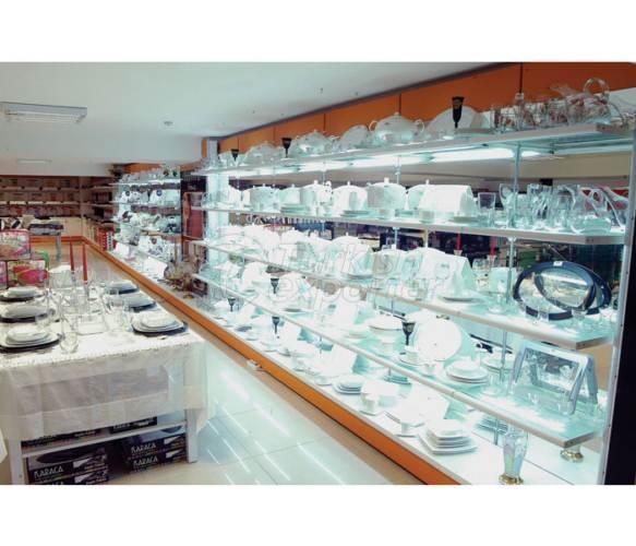Sistemas de cremalheira de armazenamento de produtos de vidro