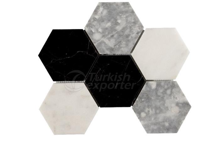 Honeycomb Large Toros Black Mugla White