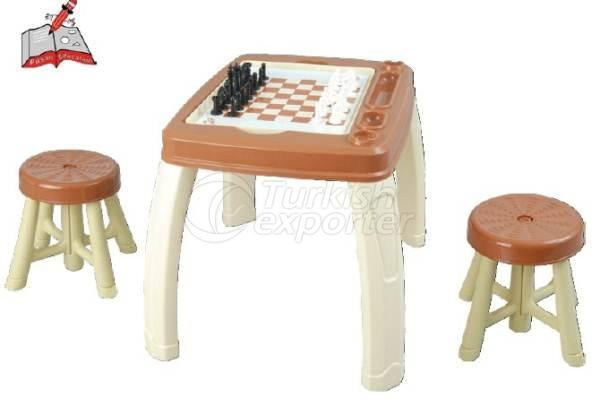 Table Set with 2 Stool and 4 Functions