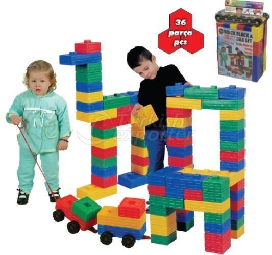 Brick Block&Car Set