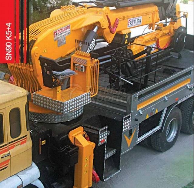 Truck Mounted Hydraulic Mobile Crane SN90 K5+4