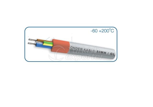 Silicone Insulated Fiberglass Barided Silicone Cable