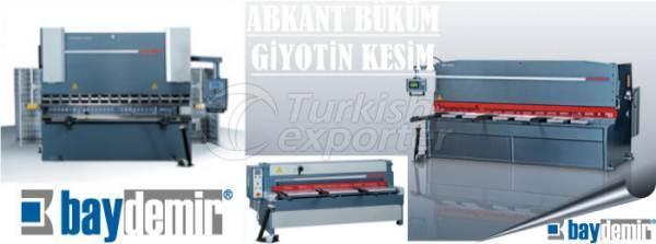 Machine à plier CNC et coupe à la guillotine