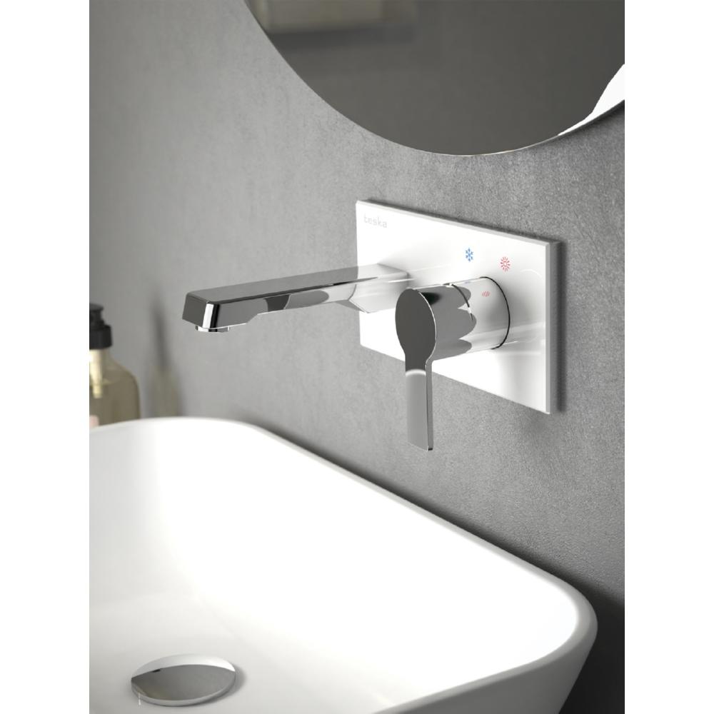 Quasar White Glazed Concealed Washbasin Battery E51100W