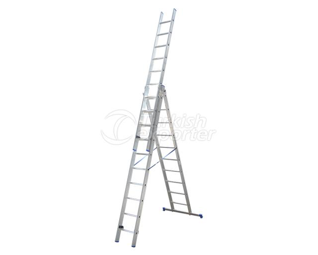 3 Section Aluminum Industrial Ladder A Type