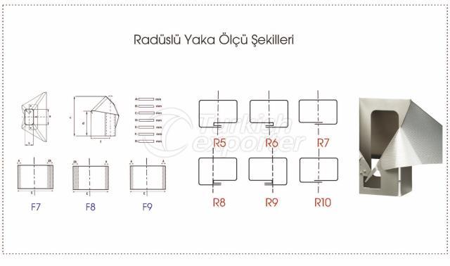 Formes de mesure de collier de rayon