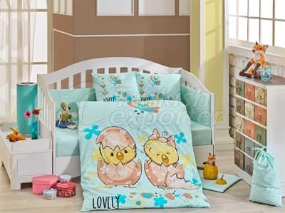 Lovely Mint - Baby Bed Linen Set (8698499129337)